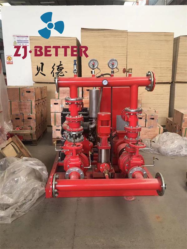 柴油电力双驱动消防泵组